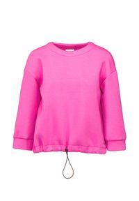 Deha - Bluza DEHA EXPRESSION. Kolor: różowy. Materiał: tkanina, wiskoza. Wzór: gładki