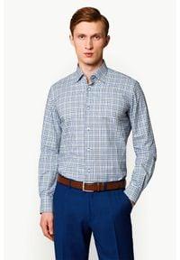 Lancerto - Koszula Mixkolor w Kratę Ventura. Materiał: tkanina, bawełna, jeans. Wzór: kratka, ze splotem