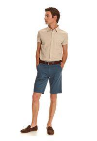 TOP SECRET - Koszula z lnem taliowana. Okazja: do pracy, na co dzień. Materiał: len. Sezon: lato. Styl: elegancki, casual