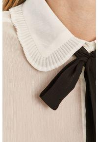 Biała koszula only z klasycznym kołnierzykiem, długa, na co dzień
