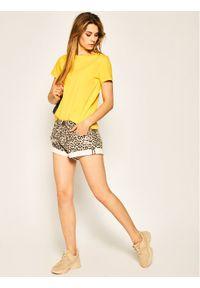 TOMMY HILFIGER - Tommy Hilfiger T-Shirt Cool Ess WW0WW28386 Żółty Relaxed Fit. Kolor: żółty