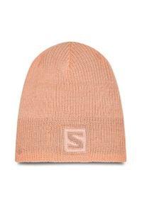 salomon - Czapka SALOMON - Logo Beanie C14213 10 S0 Tropical Peach. Kolor: pomarańczowy. Materiał: materiał, akryl