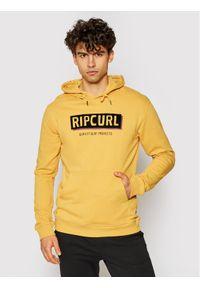 Rip Curl Bluza Bohed Hooded Pop CFEYN4 Żółty Regular Fit. Kolor: żółty