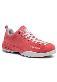 Różowe buty trekkingowe Scarpa