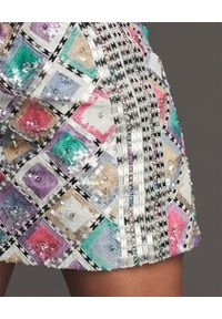 RETROFETE - Kolorowa spódnica mini Zoey. Kolor: różowy, fioletowy, wielokolorowy. Wzór: kolorowy