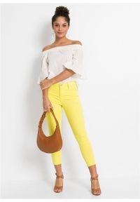 Żółte spodnie bonprix klasyczne