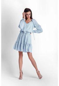 Niebieska sukienka IVON boho