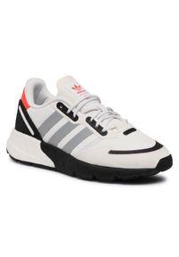 Adidas - Buty adidas - Zx 1k Boost J FX6641 White. Zapięcie: sznurówki. Kolor: biały. Materiał: skóra, materiał. Szerokość cholewki: normalna. Styl: młodzieżowy