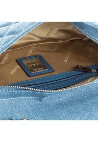 Niebieska listonoszka Kazar na ramię, w kolorowe wzory