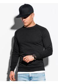 Ombre Clothing - Bluza męska bez kaptura B1217 - czarna - XXL. Typ kołnierza: bez kaptura. Kolor: czarny. Materiał: bawełna, poliester