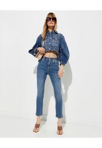 Alexander McQueen - ALEXANDER MCQUEEN - Kurtka jeansowa z bufiastymi rękawami. Kolor: niebieski. Materiał: jeans