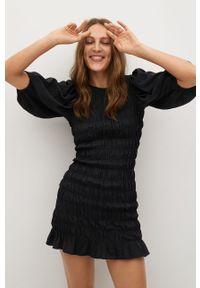 Czarna sukienka mango na co dzień, casualowa