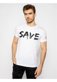 Biały t-shirt Save The Duck