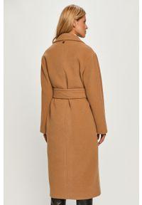 Beżowy płaszcz TwinSet na co dzień, bez kaptura, casualowy