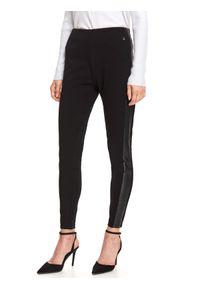 Czarne legginsy TOP SECRET na co dzień, długie, w kolorowe wzory