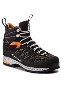 Czarne buty trekkingowe Aku
