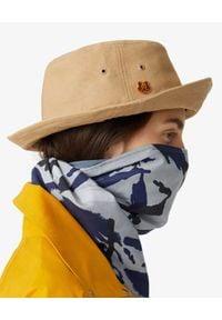 Kenzo - KENZO - Beżowy kapelusz z bawełny Tiger Crest. Kolor: beżowy. Materiał: bawełna. Wzór: aplikacja. Styl: street