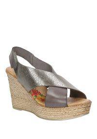 Brązowe sandały Marila eleganckie, na lato