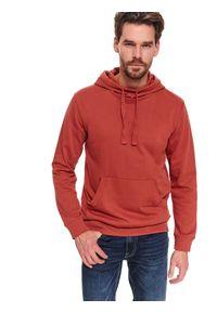 Czerwona bluza TOP SECRET w kolorowe wzory, na co dzień, z klasycznym kołnierzykiem