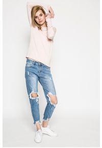 Różowy sweter only casualowy, na co dzień