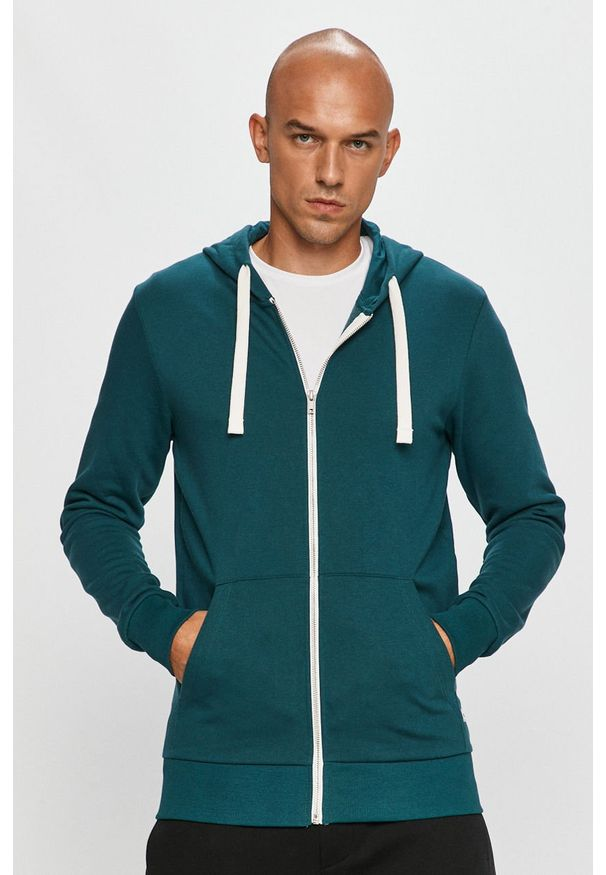 Bluza rozpinana PRODUKT by Jack & Jones casualowa, z kapturem, na co dzień