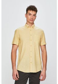 Żółta koszula Camel Active na co dzień, button down, krótka