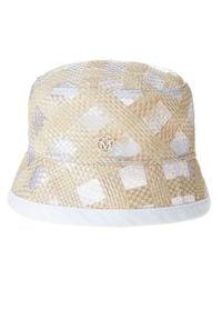 MAISON MICHEL PARIS - Kapelusz w stylu bucket. Kolor: biały. Materiał: materiał