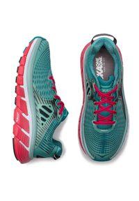 Zielone buty do biegania Hoka One One z cholewką, z nadrukiem