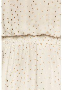 Liu Jo - Sukienka. Kolor: złoty. Materiał: tkanina