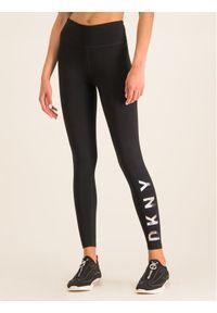 Czarne legginsy DKNY Sport sportowe