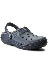 Niebieskie klapki Crocs casualowe, na co dzień