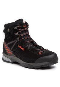 Czarne buty trekkingowe Lowa trekkingowe, z cholewką