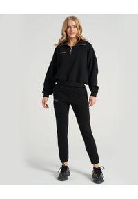 SELF LOVE - Czarne spodnie z bawełny Aspen. Kolor: czarny. Materiał: bawełna