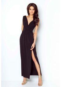 Czarna sukienka wieczorowa IVON