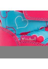 Niebieskie śniegowce Playshoes z aplikacjami, z cholewką