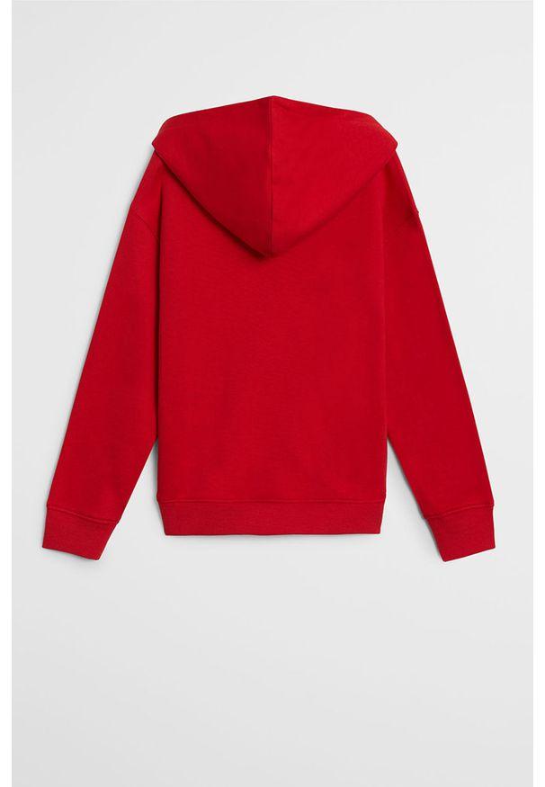 Czerwona bluza Mango Kids casualowa, na co dzień