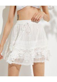 ROCOCO SAND - Biała koronkowa spódnica. Kolor: biały. Materiał: koronka. Wzór: aplikacja, haft