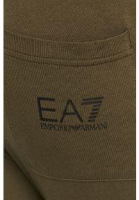 Zielone spodnie dresowe EA7 Emporio Armani z nadrukiem #3