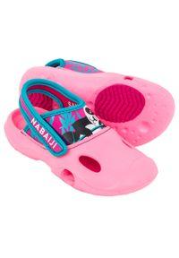 NABAIJI - Sandały Basenowe Dla Dzieci Nabaiji Clog 500 Panda. Kolor: różowy. Materiał: kauczuk. Wzór: jednolity, kolorowy
