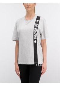 Love Moschino - LOVE MOSCHINO T-Shirt W4F8723M3517 Regular Fit. Kolor: szary