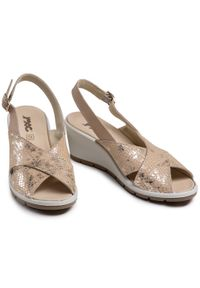 Złote sandały Imac