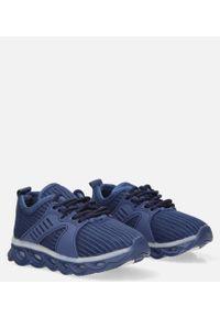 Casu - granatowe buty sportowe sznurowane casu 204/25m. Kolor: niebieski