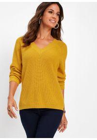 Żółty sweter bonprix