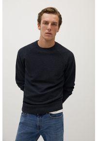 Szary sweter Mango Man długi, casualowy