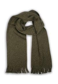 Zielony szalik V. Fraas melanż, na zimę, klasyczny