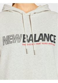 New Balance Bluza Essentials Speed WT03508 Szary Relaxed Fit. Kolor: szary