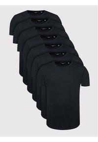Only & Sons Komplet 7 t-shirtów Matt Life Longy 22012787 Czarny Regular Fit. Kolor: czarny