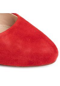 Czerwone baleriny Caprice z cholewką