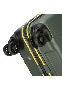 Zielona walizka Wittchen w kolorowe wzory