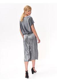 Srebrne spodnie TOP SECRET eleganckie, na imprezę